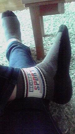 息子の靴下